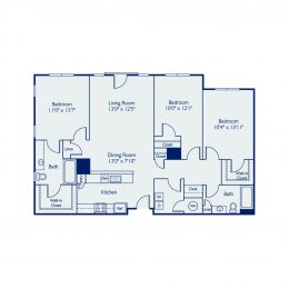 Bell Annapolis on West 3 Bedroom Apartment